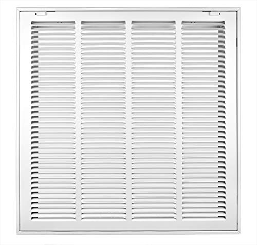 Accord ABRFWH2020 Return Filter Grille with 1/2-Inch Fin Louvered, 20-Inch x 20-Inch(Duct Opening Measurements), White (Frame Holder Filter)
