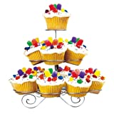 FineLife 3 Tier Cupcake Stand - Holds 13 Cupcakes