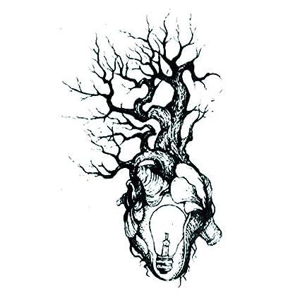 lijinjin El Árbol del Corazón Luz Impermeable Tatuajes Temporales ...