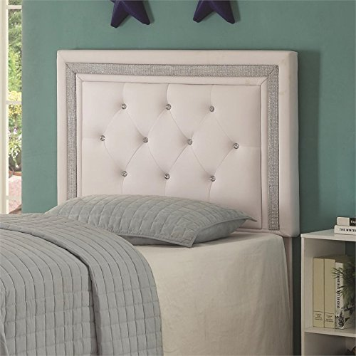 Diamond Headboard - Coaster 300545T-CO Andenne Tufted Twin Panel Headboard, White