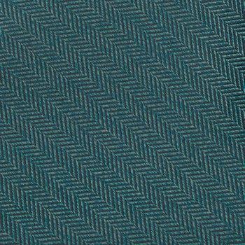 Notch Mens Silk Pocket Square Herringbone pattern in petrol