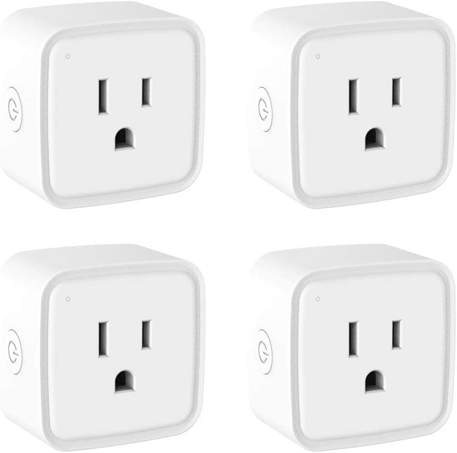 Smart Plug WiFi Outlet 4 Pack Work with Alexa Google Home/Smart Life, Avatar Controls Mini Wireless Socket No Hub Required