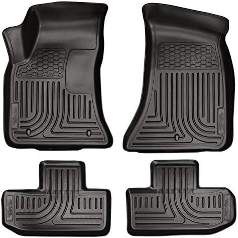 Husky Liners 98071 Fits 2011-15 Dodge Challenger Weatherbeater Front & 2nd Seat Floor Mats , Black