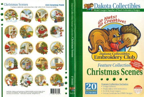 Christmas Scenes Embroidery Design Software (Designs Embroidery Dakota Machine)