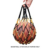 Joy-Jumper Ball Bag,Portable Mesh with Handle, for Basketball, Volleyball, Soccer, Football and Rugby.