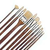 Best Fuji Acrylic Paints - 11 pcs Professional Oil & Acrylics Artist Brushes Review