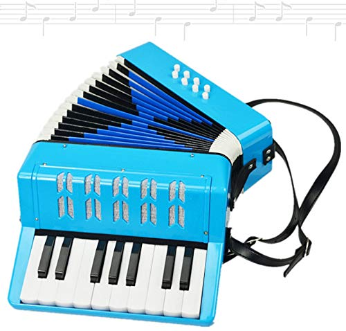 SFQNPA 17K 8B Mini Accordion Children's Accordion Instrument ABS Plastic Piano Accordion Educational Instrument for Students Beginners Children's Instrument (Blue) by SFQNPA (Image #2)