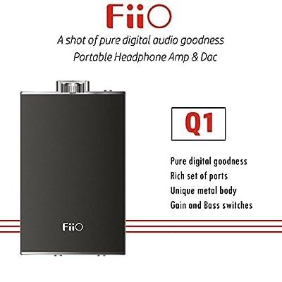 FiiO Q1 Portable USB DAC and Headphone Amplifier (Black)