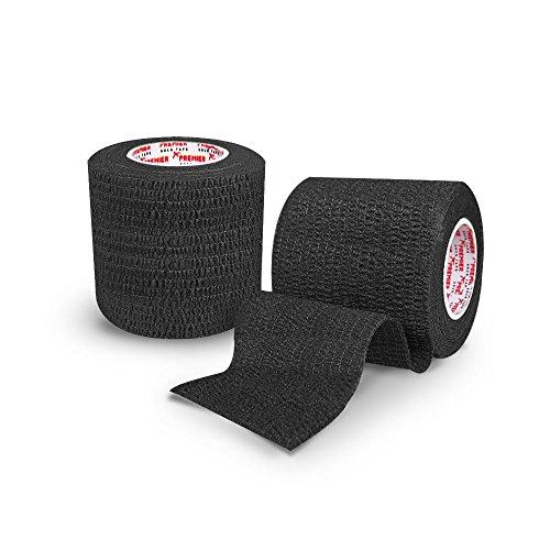 Premier Sock Tape Pro Wrap Shin Pad Soccer Rugby Sock Tape 5cm - Black