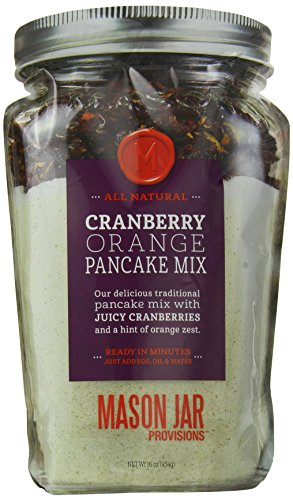 The Mason Jar Cookie Company Cranberry Orange Zest Pancake, 16 Ounce (Pack of 6) by Mason Jar Cookie Company