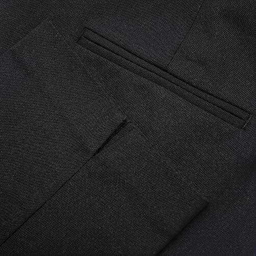 Marycrafts Women's Work Ankle Dress Pants Trousers Slacks ,Medium,Black 2 by Marycrafts (Image #8)