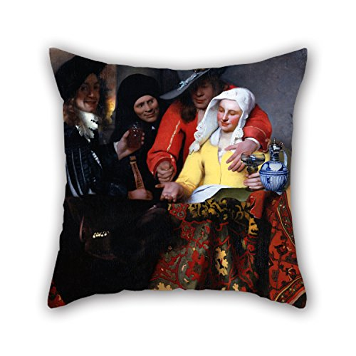 Vermeer Dot - Oil Painting Johannes Vermeer - The Procuress Pillow Covers 18 X 18 Inches / 45 By 45 Cm Gift Or Decor For Car Seat Father Family Father Teens Girls Bar - Two Sides