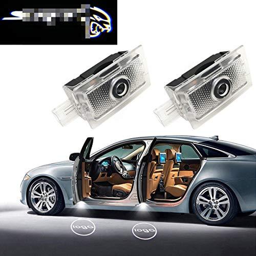 Car LED Logo Light Dodge Projector Ghost Shadow Charger 2 Pack OEM Courtesy Light for Dodge Charger SRT Hellcat GT R//T Daytona Scat Pack-No1