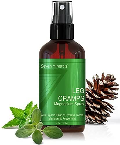 Leg Cramp Relief Spray - Get Instant Relief for Calf, Foot & Leg Cramps - Works Faster Than Tablets - Natural USA Made Magnesium Oil Blend with Organic Oils (Cypress, Marjoram, Peppermint) - (4 fl oz)