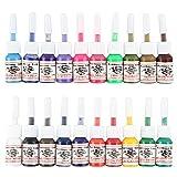 Beauty7 Professional 20 PCS Tattoo Color Inks Set Bottle Pigment Kit for Permanent Tattoo Art