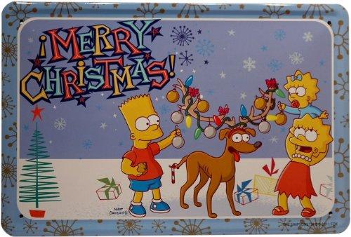 diseño de Los Simpson feliz Navidad 20 x 30 cm Diseño de ...