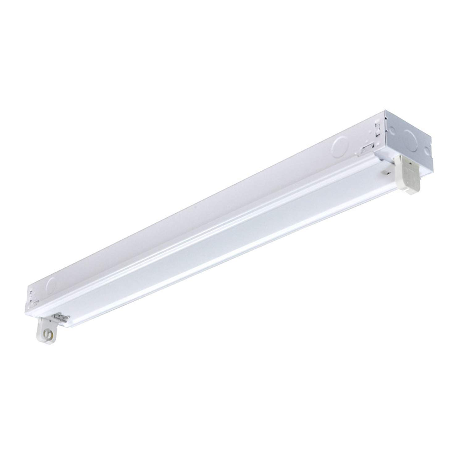 UTiLiTECH 2ft 1 Light Strip Light White Steel Housing Instant On Electronic Ballast Quiet Operation with 0 Degree F Start up