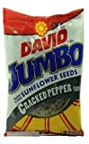 David Jumbo Sunflower Seeds Cracked Pepper Flavor, 5.25 Ounce Bag (Pack of 4)