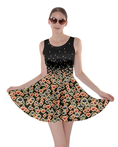 Para Cowcow Black Red amp; Poker Mujer Vestido UUAwqZr5