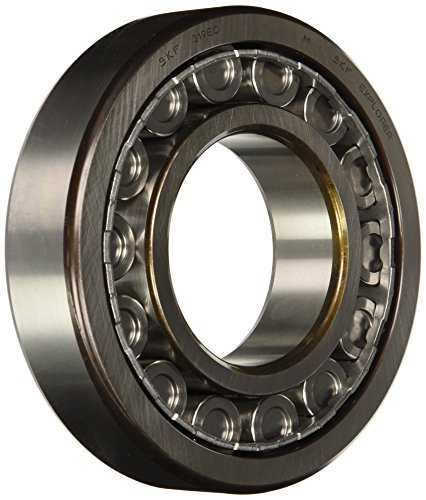 SKF NU 319 ECJ/C3 Cylindrical Roller Bearing, Single Row, Removable Inner Ring, Straight Bore, High Capacity, C3 Clearance, Steel Cage, Metric, 95mm Bore, 200mm OD, 45mm Width by SKF