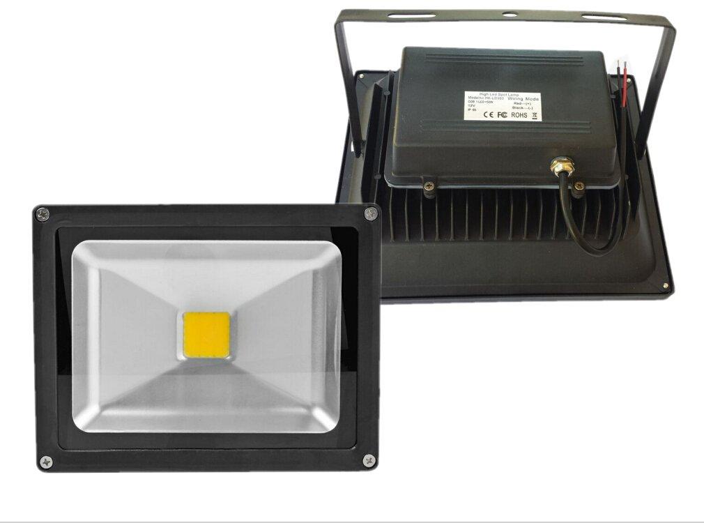 Trendmart® Led Flood Light 50w Warm White Input Voltage Dc 12v Waterproof Ip 65 Outdoor Security Wash Flood Light / Landscape Lamp / Spotlight (Black Case )