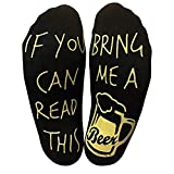 Euone  Socks, If You Can Read This Bring Me A Beer Socks Funny Short Ankle Socks for Beer Lovers Socks