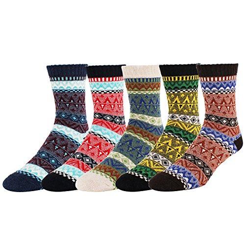 Zmart 5 Pack Men's Color Vintage Warm Wool Fall Winter Quarter Boot (Sale Vintage Wool)