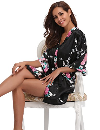 Kimono Aibrou Mujer Albornoz Sat De Robe Nuit fwqwUd0g