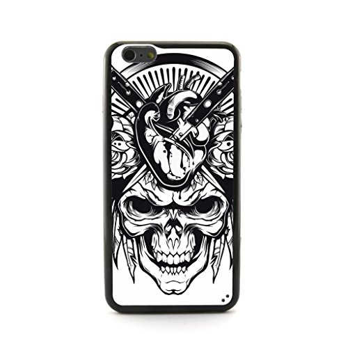 """CaseCityLiu - Knifes Into the Head Skull Pattern Design Plastic+TPU Case Cover for Apple iPhone 6 Plus 6th 6Generation 5.5"""" inch"""