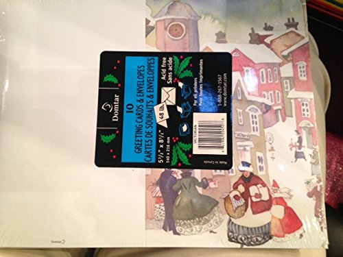 - Domtar 10 Christmas Greeting cards & Envelopes for all printers 48 lb