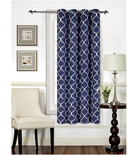 - Mellanni Thermal Insulated Blackout Curtains - 1 Panel - Window Treatments/Drapes for Bedroom, Living Room with Silver Grommet and 1 Tieback (1 Panel, 52