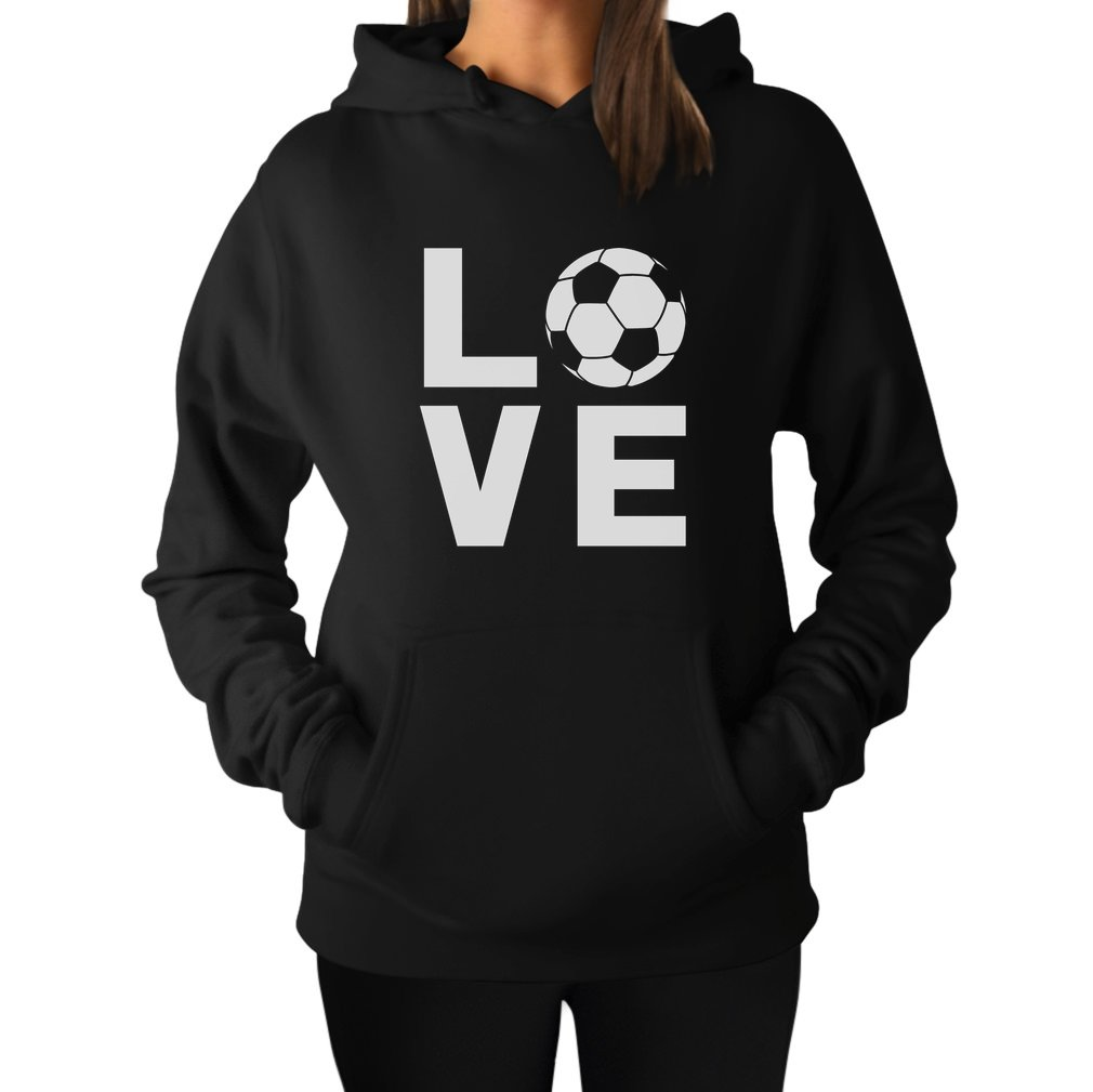 Tstars TeeStars - I Love Soccer - Perfect Gift For Soccer Players/Fans Women Hoodie