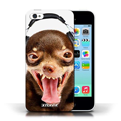 Coque en plastique pour Apple iPhone 5C Collection Animaux comiques - Chien ridicule