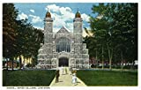 Lewiston, Maine - Exterior View of Bates College Chapel (9x12 Art Print, Wall Decor Travel Poster)
