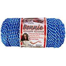 Pepperell Bonnie Macrame Craft Cord, 4mm by 100 yd, Blueberry