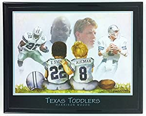 Dallas Cowboys Troy Aikman & Emmitt Smith - Texas Toddlers Framed Photo