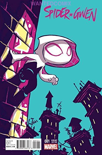 1992 Marvel Spider - SPIDER-GWEN #1 SKOTTIE YOUNG VARIANT COVER MARVEL COMIC BOOK NEW 2015 STACY
