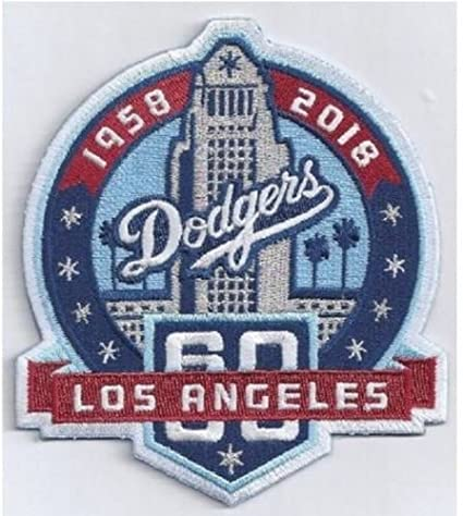 Image Unavailable. Image not available for. Color  Baseball DODGERS 60TH  ANNIVERSARY PATCH JERSEY ... 7af3ba9052a