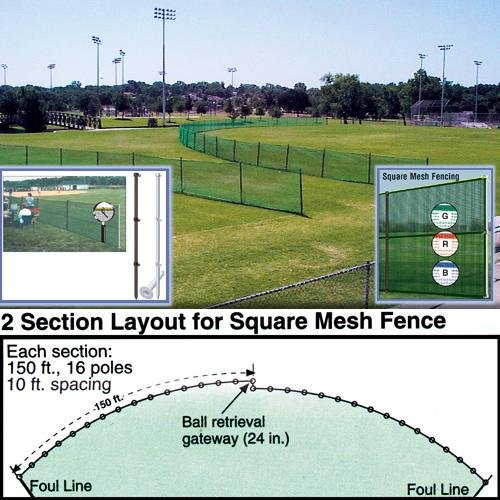 Outfield Fencing - Replacement Fencing 150FT Roll - Blue