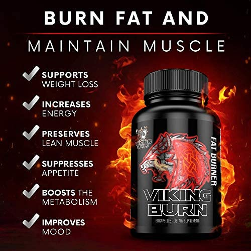 Viking Supps Viking Burn Fat Burner, Weight Loss Support Supplement with Green Tea, Caffeine, and Yohimbine - 60 Capsules (30 Day Supply) 4