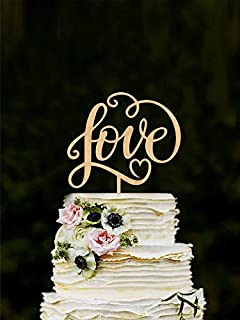 Amazon wedding cake topper it was always you 18 thick love wedding cake topper unique cake toppers for weddings letter cake toppers wooden junglespirit Image collections