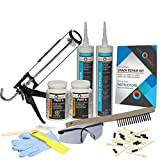 Complete Drill Crack Repair Kit - Hairline to 1/16'' Wide Cracks (DIY FLEXKIT-202-COM)