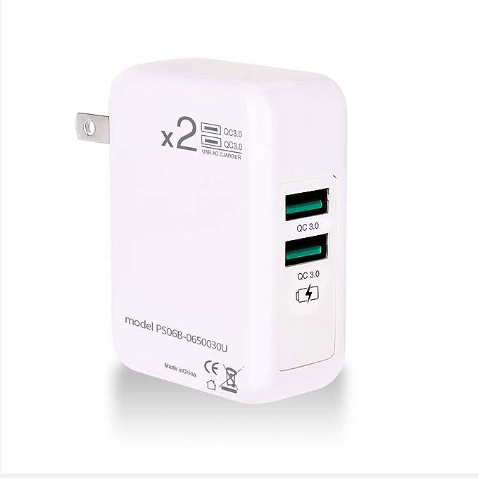 ONELY Dual Quick Charge 3.0 USB Cargador Rápido Cargador, 30W ...