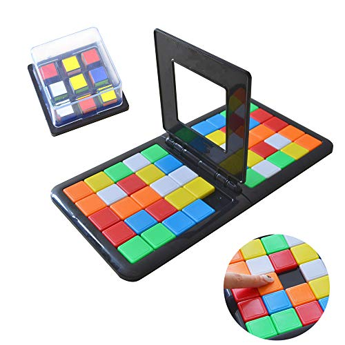 xiaopai Magic Block Game Puzzle Blocks Game Colored Cubes Table Game Desktop Game Children Baby Puzzle Toys Education Toys Family Interaction for Kids and Adult (Rubiks Race Board Game)
