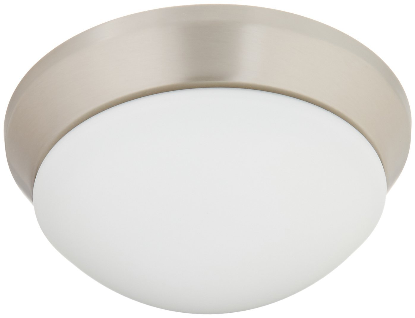 Kichler 8880ni flush mount ceiling lighting round brushed nickel 1 light 10 w x 4 25 h 75 watts close to ceiling light fixtures amazon com