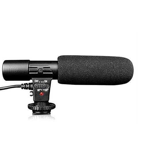 Runfon - Micrófono para cámara réflex Digital de 3,5 mm con ...