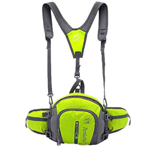 Bag Waist Outdoor Crossbody Handbag Waterproof Catkit in 1 Multifunction Backpack Travel 4 Green Sport Shoulder 4ZWAScxwaq