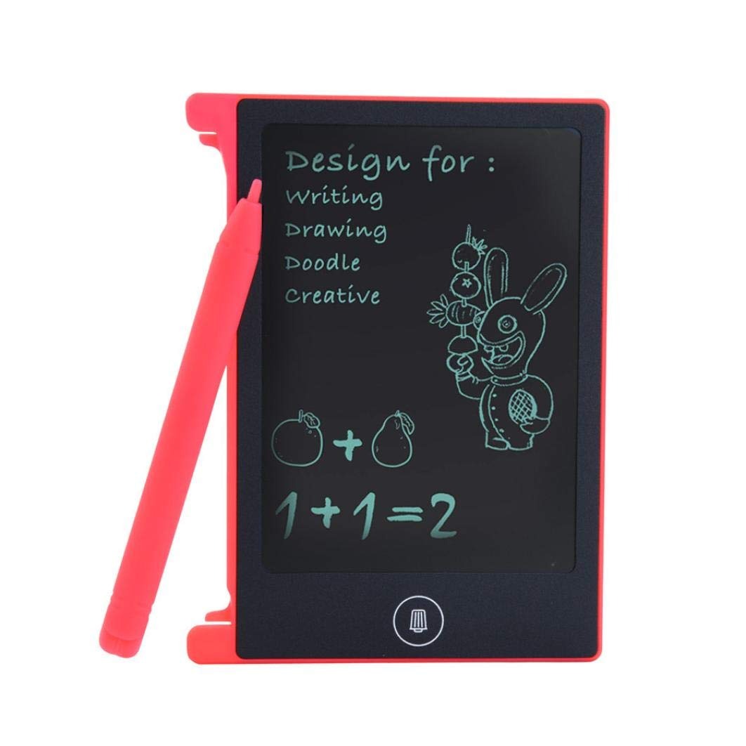 Gaddrt 4.4 inch LCD Writing Tablet Doodle Board Kids Writing Pad Drawing Graphics Board with Writer Pen Red