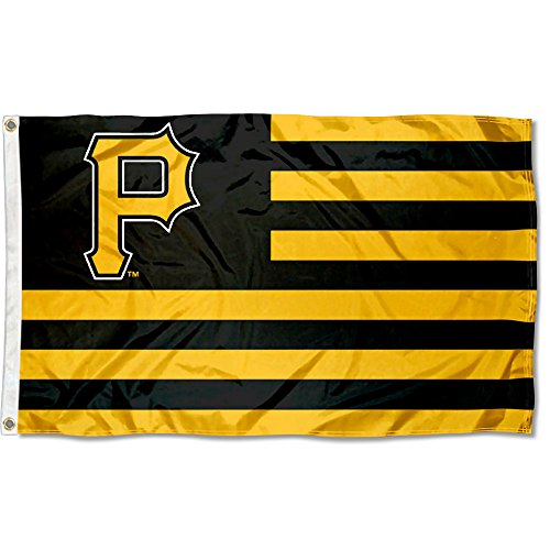 MLB Pittsburgh Pirates Nation Flag 3x5 Banner (Wincraft Pittsburgh Pirates Flag)