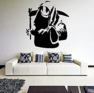 25 39 39 x 28 39 39 banksy vinyl wall decal death for Decor mural underground